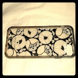 Kate Spade iPhone 7/8 clear Paris poppy case